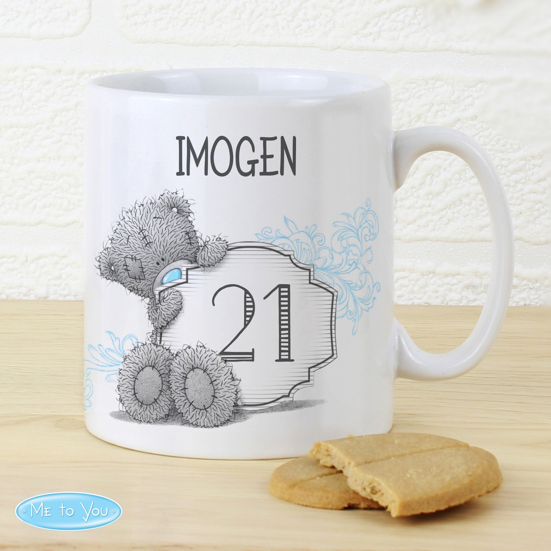 Personalised Me to You Neutral Big Age Mug