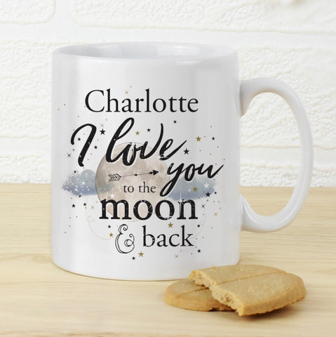 Personalised To the Moon & Infinity... Mug - Shane Todd Gifts UK