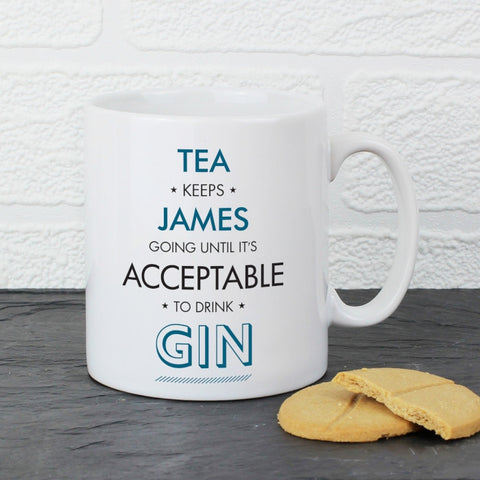 Personalised Acceptable To Drink Mug - Shane Todd Gifts UK