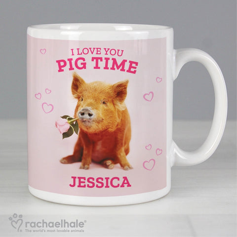 Personalised Racheal Hale 'I Love You Pig Time' Mug | ShaneToddGifts.co.uk