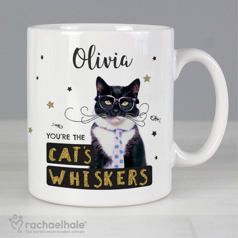 Personalised Rachael Hale 'You're the Cat's Whiskers' Mug | ShaneToddGifts.co.uk
