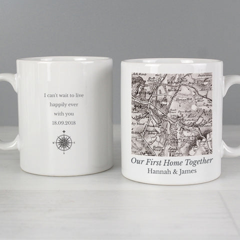 Buy Personalised 1805 - 1874 Old Series Map Compass Mug
