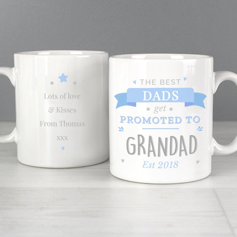Buy Personalised Blue Promoted to Mug