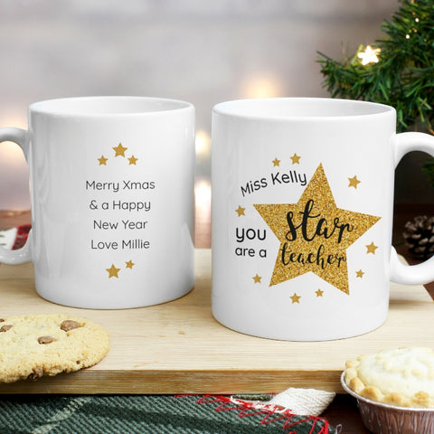 Personalised Star Teacher's Mug