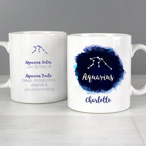 Buy Personalised Aquarius Zodiac Star Sign Mug