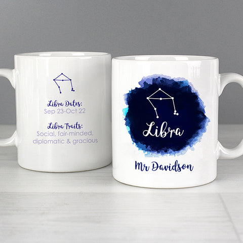 Buy Personalised Libra Zodiac Star Sign Mug