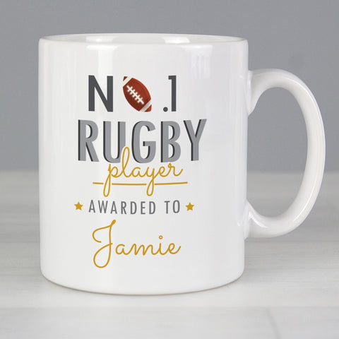 Personalised No.1 Rugby Player Mug