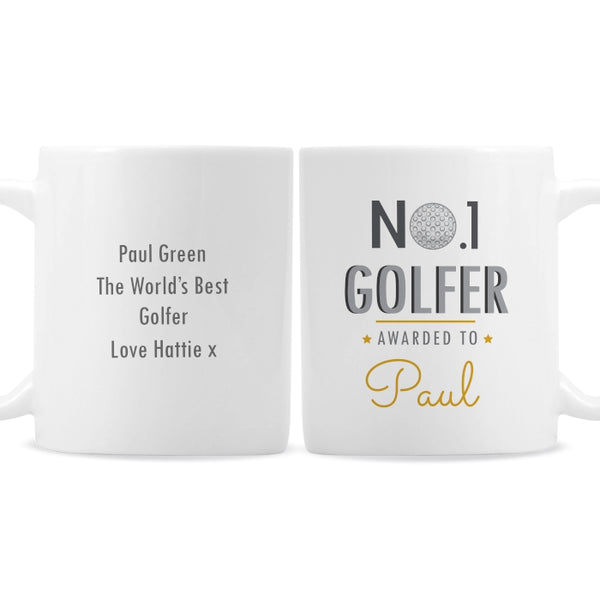 Personalised No.1 Golfer Mug