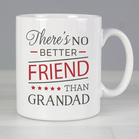 Personalised 'No Better Friend Than Grandad' Mug
