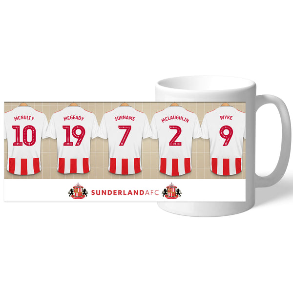 Personalised Sunderland AFC Dressing Room Mug