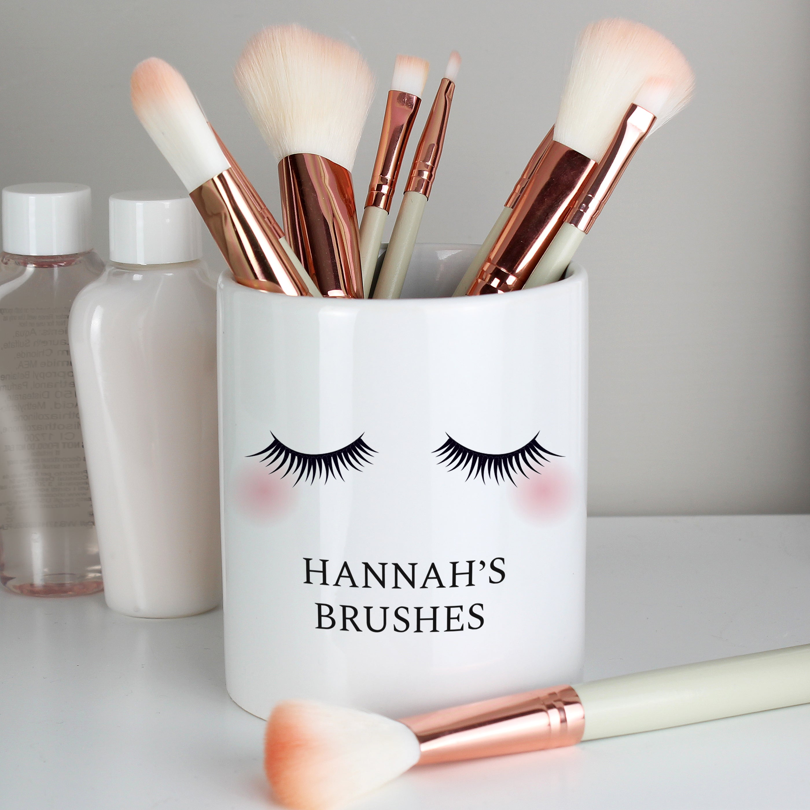 Personalised Eyelashes Ceramic Storage Pot, Furniture by Low Cost Gifts