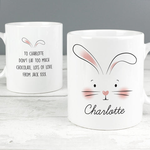 Personalised Bunny Features Mug