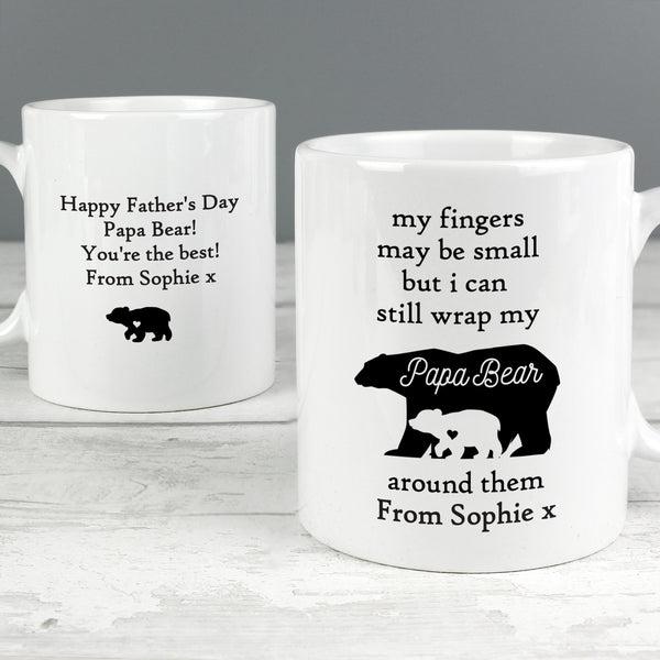Personalised My Fingers May Be Small Bears Mug