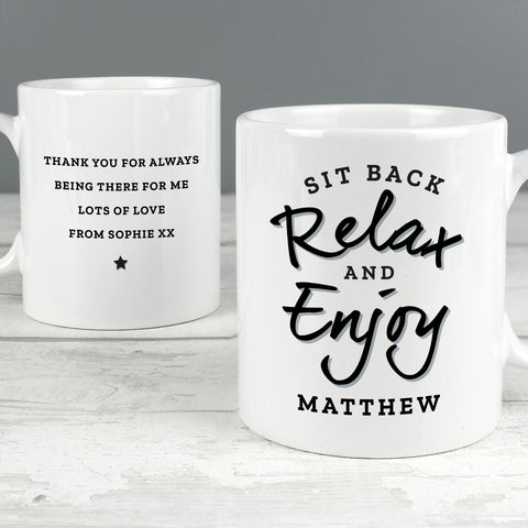 Personalised Sit Back & Relax Mug
