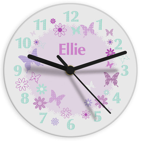 Buy Personalised Butterfly Clock