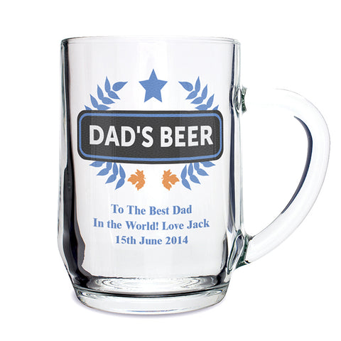 Personalised Blue Wheat Tankard | ShaneToddGifts.co.uk