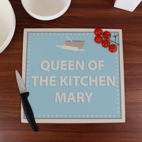 Personalised Baker Glass Chopping Board | ShaneToddGifts.co.uk
