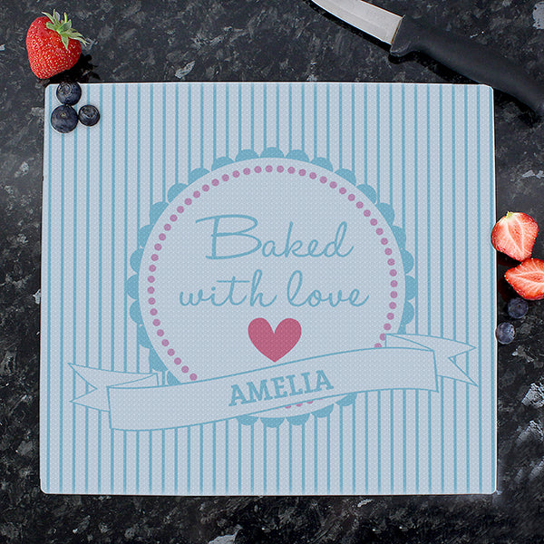 personalised-baked-with-love-glass-chopping-board