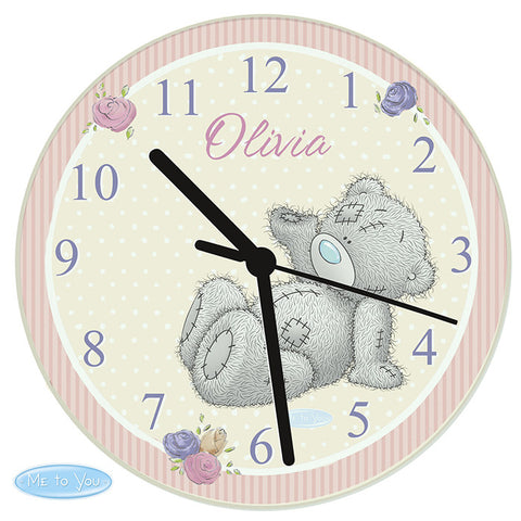 Personalised Me To You Glass Clock - Shane Todd Gifts UK