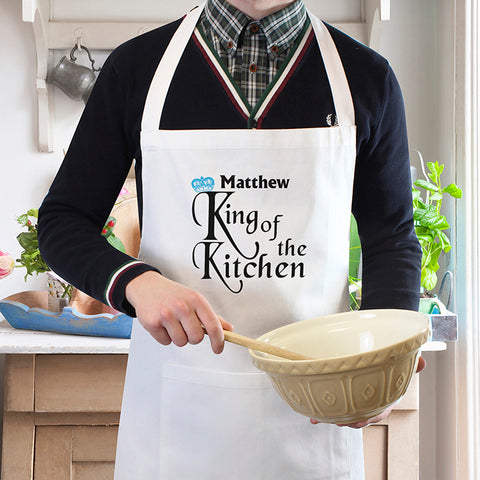 Personalised King of the Kitchen Apron | ShaneToddGifts.co.uk