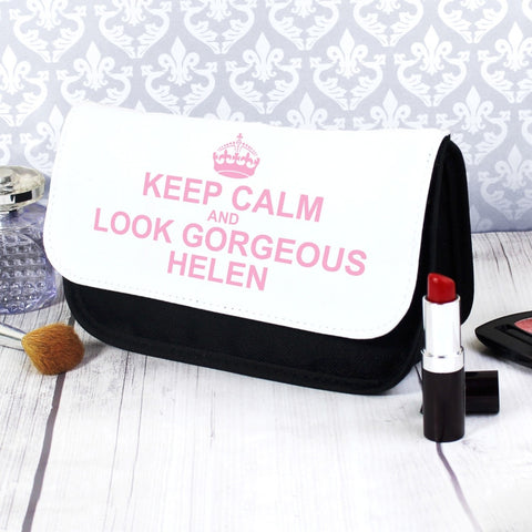 Buy Personalised Keep Calm Make Up Bag