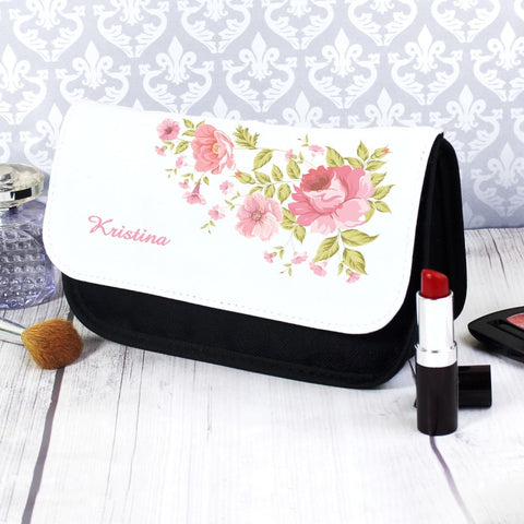 Buy Personalised Pretty Rose Make Up Bag