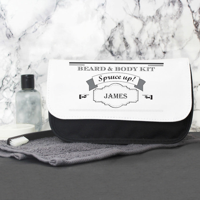 Personalised Spruce Up Mens Wash Bag