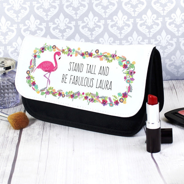 personalised-flamingo-make-up-bag
