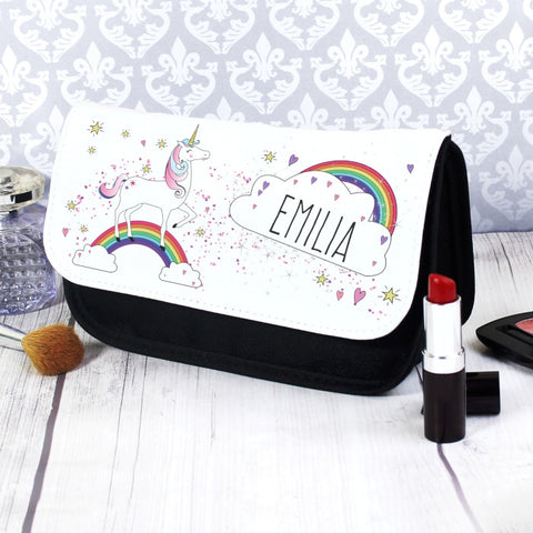 Buy Personalised Unicorn Make Up Bag