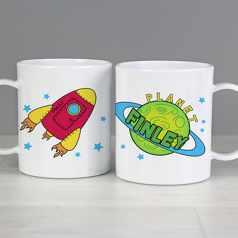 Buy Personalised Space Plastic Cup