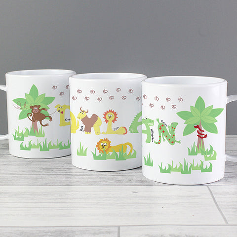 Personalised Animal Alphabet Plastic Cup