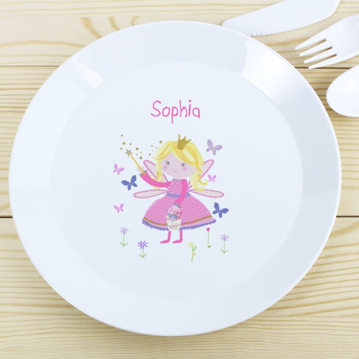 Buy Personalised Garden Fairy Plastic Plate