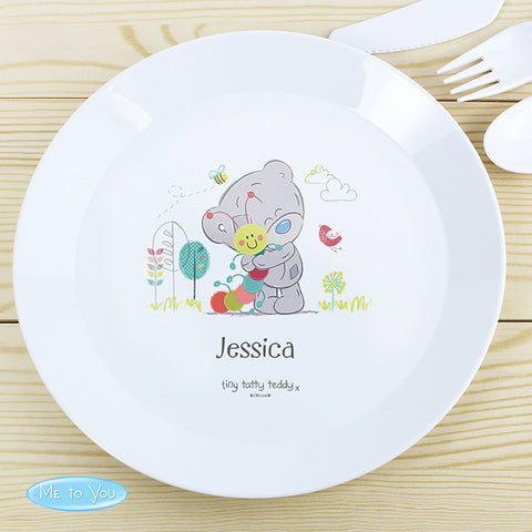 Buy Personalised Tiny Tatty Teddy Cuddle Bug Plastic Plate