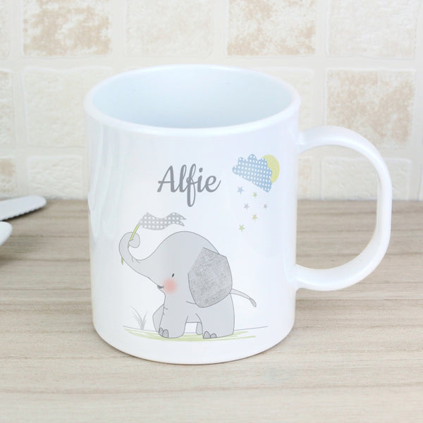 Buy Personalised Hessian Elephant Plastic Mug