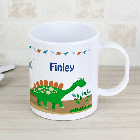 Buy Personalised Dinosaur Plastic Mug