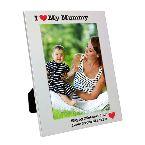 Buy Personalised Silver 5x7 I Heart Photo Frame