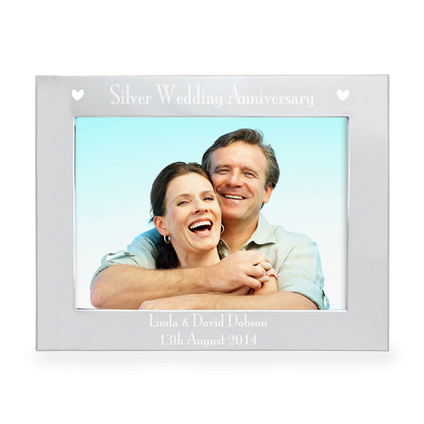 personalised-silver-5x7-silver-anniversary-landscape-photo-frame