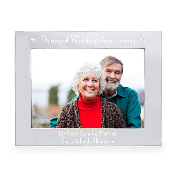 personalised-silver-5x7-diamond-anniversary-landscape-photo-frame