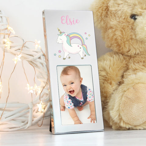 Buy Personalised Baby Unicorn 2x3 aluminium photo frame