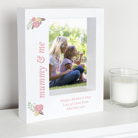 Buy Personalised Floral Bouquet 5x7 Box Photo Frame