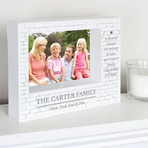 Buy Personalised Family 7x5 Box Photo Frame
