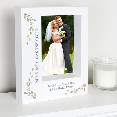 Buy Personalised Fresh Botanical 5x7 Box Photo Frame