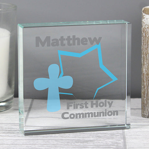 Buy Personalised Star Cross Large Crystal Token