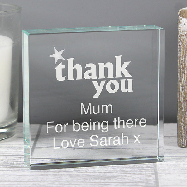 Personalised Thank you Crystal Token