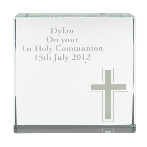 Personalised Cross Large Crystal Token | ShaneToddGifts.co.uk
