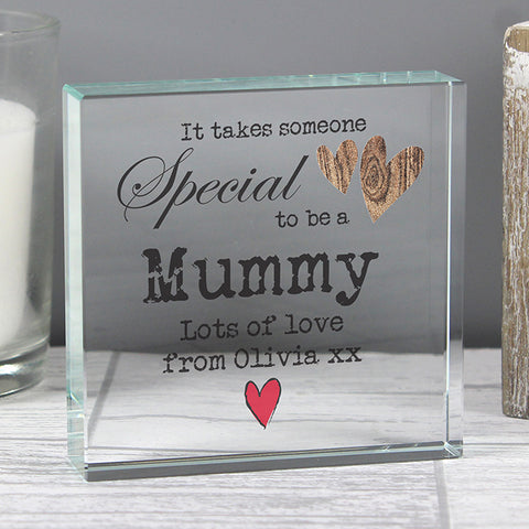 Buy Personalised Someone Special Large Crystal Token