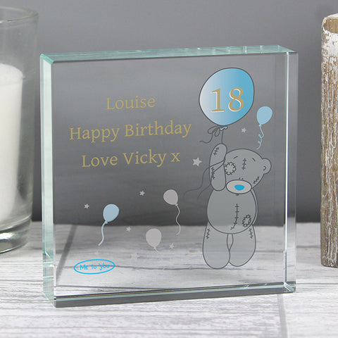 Personalised Me To You Balloon Crystal Token