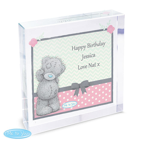 Personalised Me To You Pastel Belle Large Crystal Token | ShaneToddGifts.co.uk