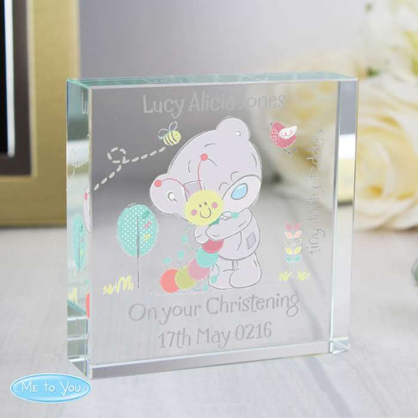 Personalised Tiny Tatty Teddy Cuddle Bug  Crystal Token