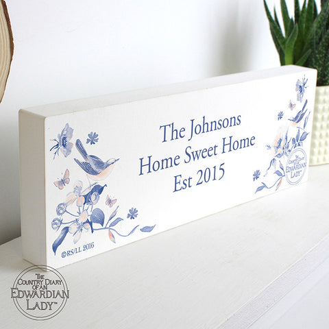 Buy Personalised Country Diary Blue Blossom Mantel Block